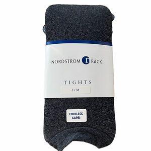 V Nordstrom Tight Footless Capri Dark Gray Size S